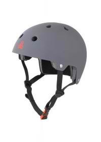 Brainsaver D-Cert Helm - Helm - Triple Eight - Gun Matte Rubber