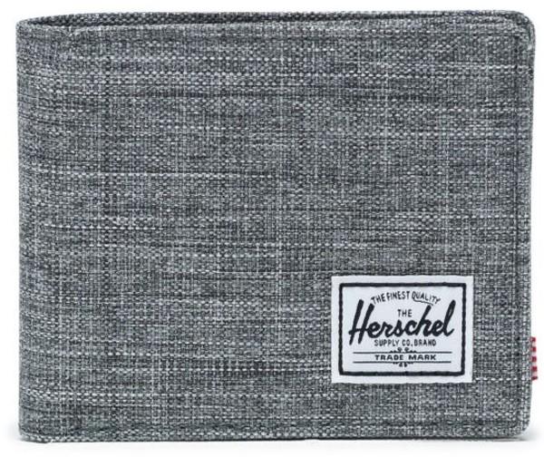 Herschel - Roy Coin XL - Accessories - Geldtaschen - PU-Geldtasche - raven crosshatch