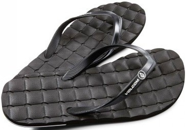 Volcom - Recliner Rubber - Schuhe - Sandalen/FlipFlops - Flip Flops - black