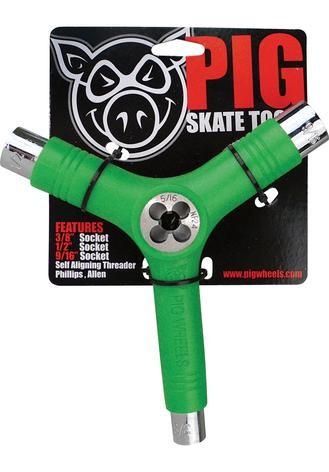 Skate Tool inkl. Gewindeschneider - Pig - Green - Skate Tool