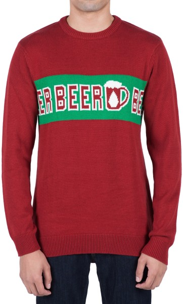 Volcom - Strange Brew Sweater - red - blood red - beer pullover volcom - volcom bier pullover männer