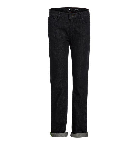 STRAIGHT BLACK RINSE BY - Jeanshosen - Straight Fit - DC - Black Rinse