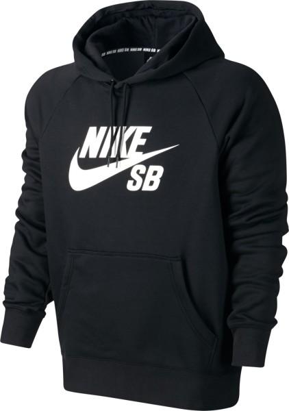Nike SB - Icon Pullover Hoodie - black white - nike hoodie - nike pullover - schwarzes nike sweatshirt