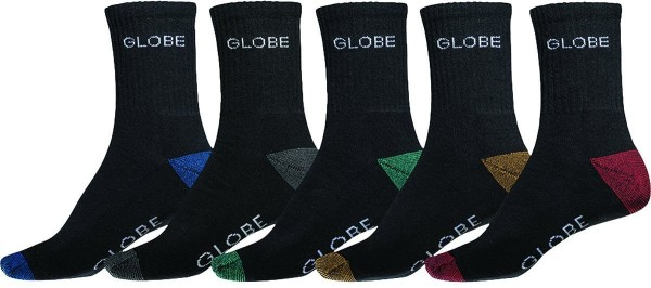 Globe - Ingles Crew Sock 5 Pack - Accessories - Socken - Socken - ASS-Asst.
