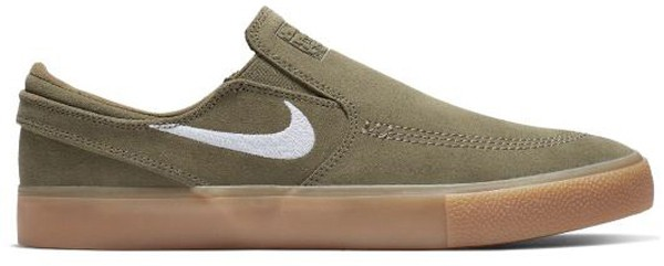 SB Zoom Janoski Slip RM - Nike - medium olive/white - Sneakers