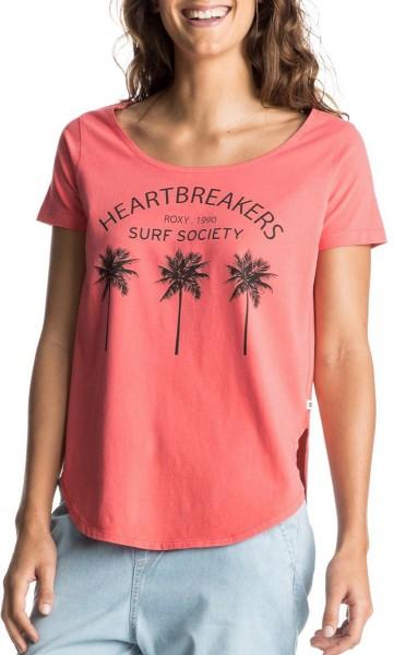 Roxy - Tulip Third Palm - Damen T-Shirt - Georgia Peach