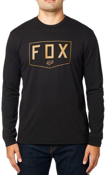 Fox - Shield - Streetwear - Shirts & Tops - Shirts und Tops - T-Shirt Langarm - black
