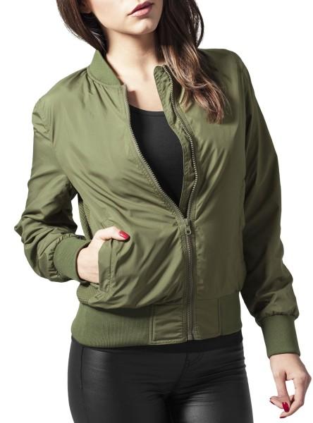 Urban Classics - Light bomber jacket - olive