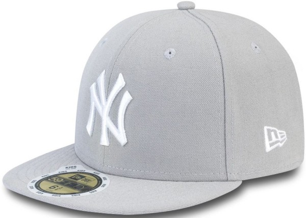 New Era - MLB LEAGUE BASIC - Accessories - Caps - Fitted Caps - grey/white