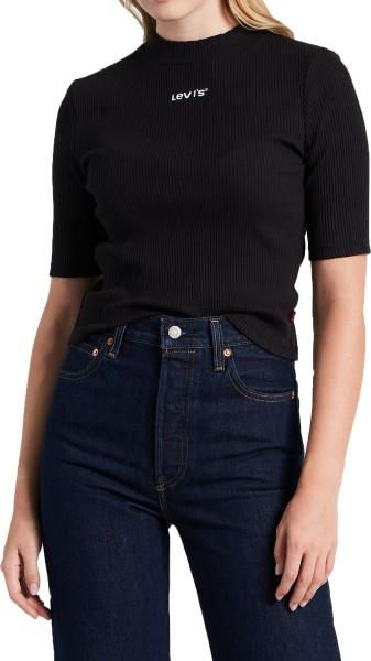 Levis - Rib Slim Tee - Mineral Black - Fashion Tops