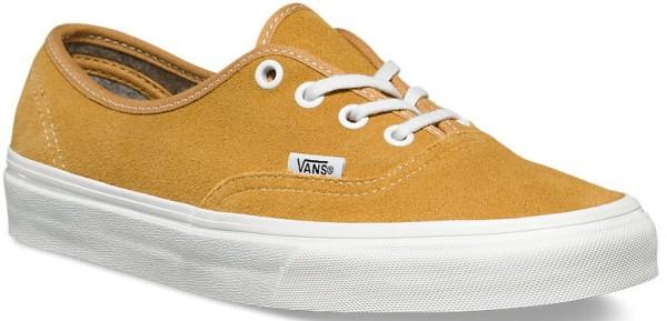 Vans - authentic - varsity suede amber gold - vans schuhe - vans skate schuhe - vans sneaker - vans shoes yellow - authentic shoes - authentik schuhe