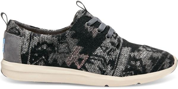 Toms - Women Del Rey Sneaker - grey tribal wool - toms damen schuhe - women sneaker