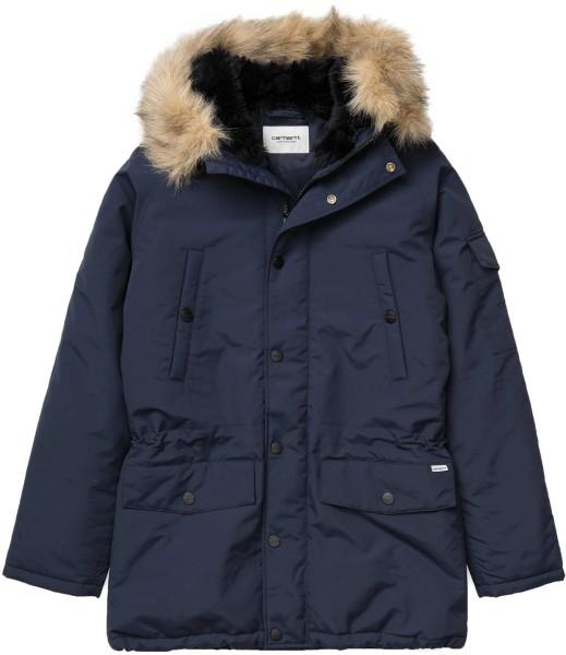 Carhartt - Anchorage Parka - Dark Navy / Black - dunkelblau - Streetwear - Jacken - Parka