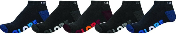 Globe - Multi Stripe Ankle Sock - Accessories - Socken - Socken - Black
