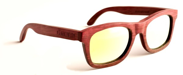 Moreboards - Be Wood II - Sonnenbrille - Holzsonnenbrille - Polarized - red yellow