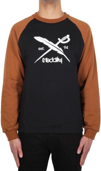 Iriedaily - Rugged Flag Crew - cara black - schwarz - streetwear - sweaters - crew sweater