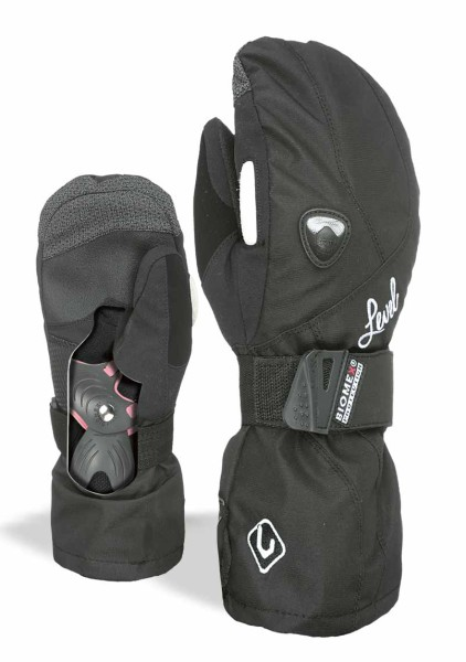 Butterfly W Mitt - Level - Damen - Black - Snowwear - Handschuhe - Fäustlinge