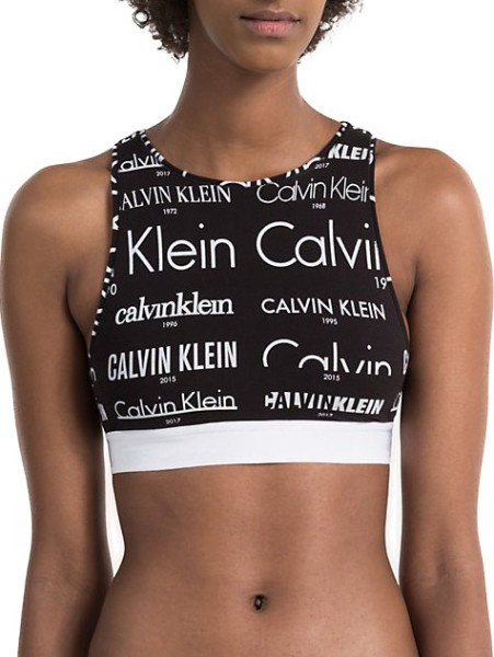 Calvin Klein - Bralette Unlined - heritage logo brazen