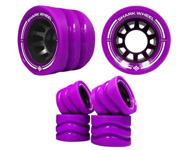 Shark Wheels - Quad Skate Formula Indoor 99A 58mm - Longboard - Skateboard - Wheels - Purple