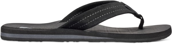 Quiksilver - Carver Suede - Schuhe  -  Sandalen/FlipFlops  -  Flip Flops - solid black