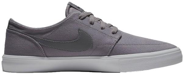 Nike - Solarsoft Portmore II Canva - Schuhe - Sneakers - gunsmoke/white-white