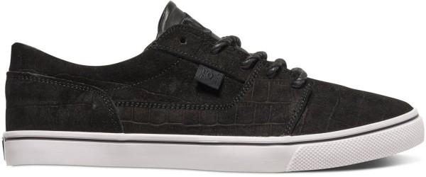 DC - Tonik XE - adjs700022 - black smooth - schwarzer dc damen sneaker - dc sneaker schwarz - schwarzer sneaker leder optik