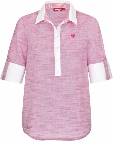 Tirol - Bluse Erl - Streetwear - Hemden - Hemden Kurzarm - rosa