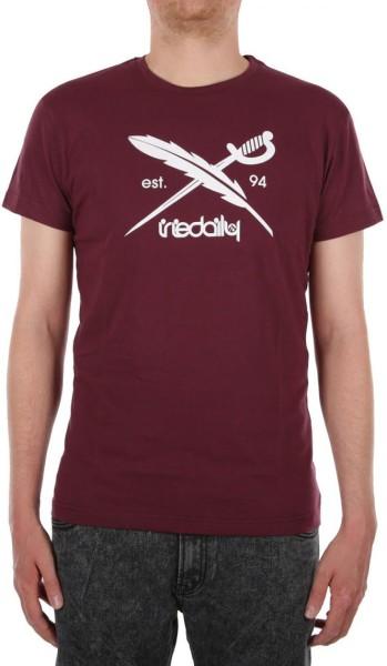 Iriedaily -Daily Flag - Streetwear - Shirts & Tops - T-Shirts - maroon mel - Iriedaily Daily Flag maroon mel T-Shirt -  Daily Flag maroon mel T-Shirt  von Iriedaily