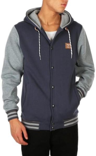 Iriedaily - Daily College Hooded - steel blue - streetwear - sweater - zip hoody