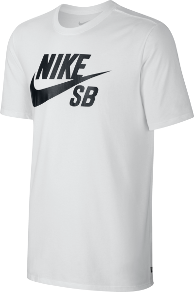 Nike SB - Logo - Streetwear - Shirts & Tops - T-Shirts - white - Nike SB Logo white T-Shirt - Logo white T-Shirt von Nike SB - Nike SB T-Shirt - T-Shirt von Nike SB