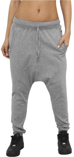 Urban Classics - Ladies Light Fleece - Streetwear - Hosen - Jogginghosen - grey