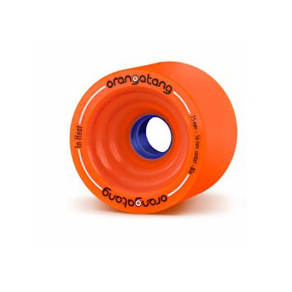 In Heat- Longboard - Longboard Wheels - Orangatang - Orange