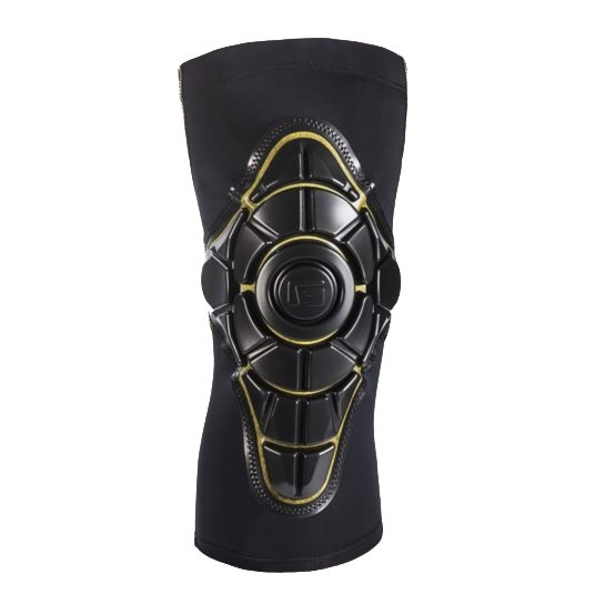 PRO-X Knee Pad - Knieschützer Skate - G-Form - Black-Yellow