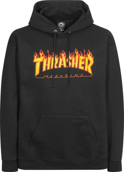 Trasher - Flame - Kapuzen Hoodie - Hooded Sweater - black
