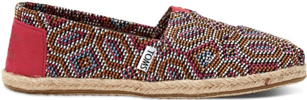Tom's - Pink Multi Woven Women Rope Sole - Muster - Pink Multi - Tom's Schuhe - Tom's Damen Schuhe - Toms Schuhe