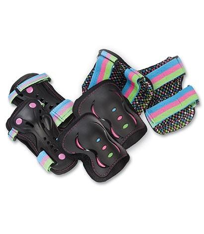 Rio Roller - SFR Essential Triple Pad Set - Unisex - Kinder - Junior - Disco