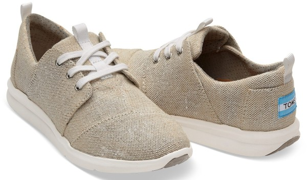 Tom's - Natural Metallic Leinen Women Del Rey - Damen - Sneaker - Natural Metallic