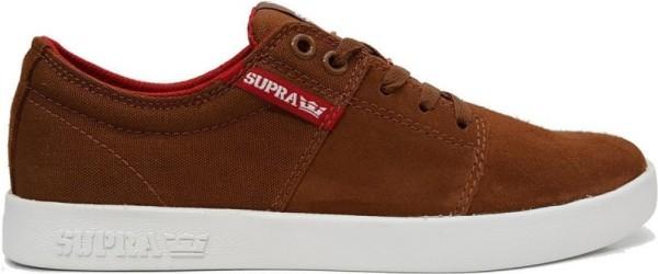 Supra - Stacks II - brown red white - supra sneakers - supra skate schuhe - supra stacks schuh - stacks shoes - stacks two - brown supra shoe