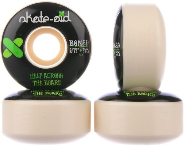 Bones - STF Skate Aid II 83B V1 - Boards & Co - Skateboard - Skateboard Wheels - SB Rollen-Wheels - white