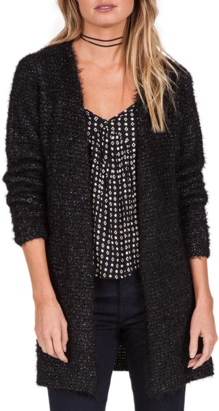 Volcom - Faded Rays Sweater - black - schwarz - volcom cardigan - volcom women sweater