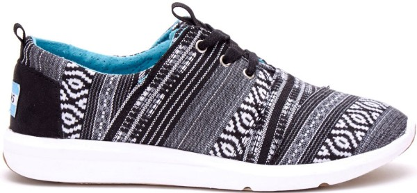 Tom's - Black White Cultural woven women del rey - black - white - muster - damen Schuhe von Tom's - Tom's Damen Schuhe - Women Sneaker