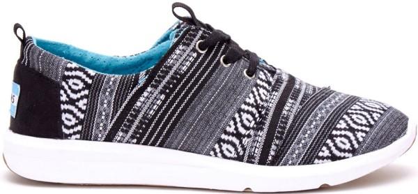 Tom's - Black White Cultural woven women del rey - black - white - muster - damen Schuhe von Tom's - Tom's Damen Schuhe - Women Sneaker
