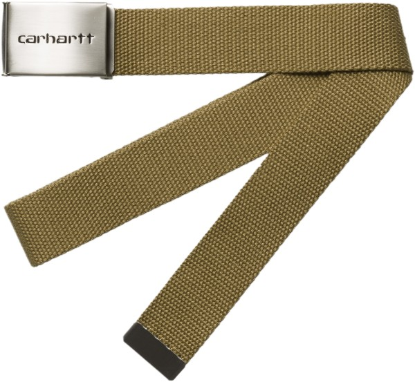 Carhartt - Clip Belt Chrome - Accessories  -  Gürtel  -  Textilgürtel - hamilton brown