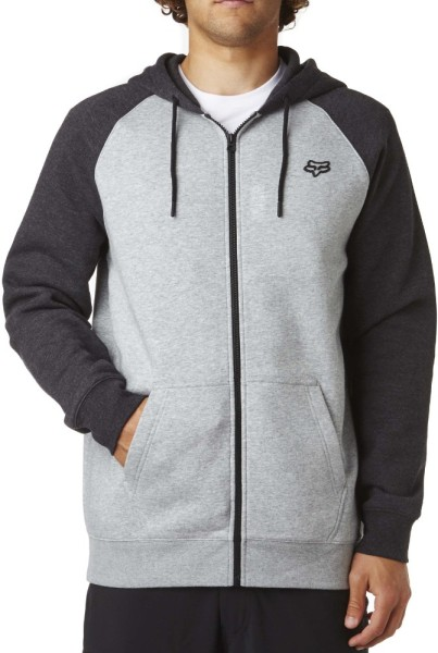 Fox - Legacy Zip Fleece - heather grey