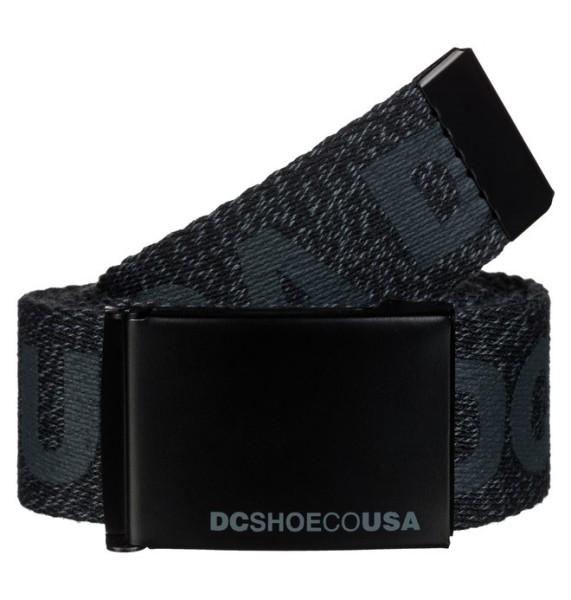 DC - Chinook Belt - Stoffgürtel - grau - schwarz - black heather - men - männer gürtel - herren gürtel - dc shoes usa - accessoires