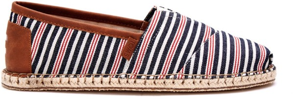 Toms - Alpargata ESP - Schuhe - Straßenschuhe - Slippers - navy/red stripe