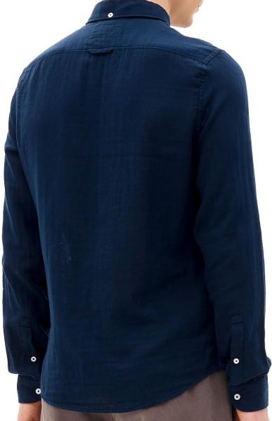 Nowadays - button-down double weave - Streetwear - Hemden - Hemden Langarm - blue black