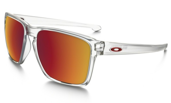 Oakley - Silver XL - matte clear with torch - oakley sonnenbrille - große sonnenbrillen - spezielle sonnenbrillen xl - weiße sonnenbrille