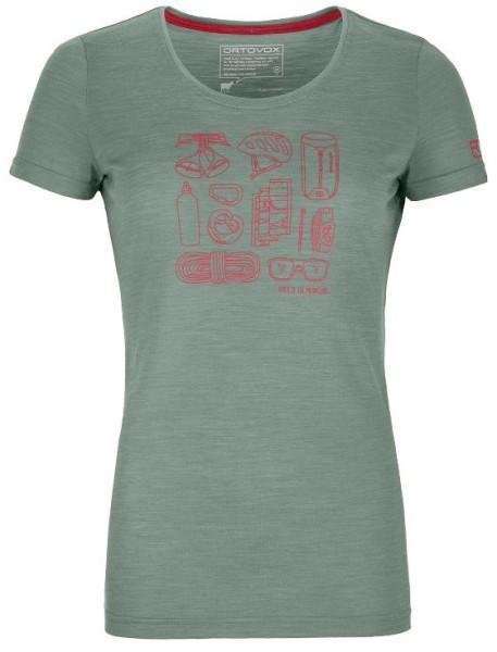 Ortovox - Cool Tec Puzzle T-Shirt - green forrest blend - Snowwear - Funktionswäsche - Techshirt Kurzarm