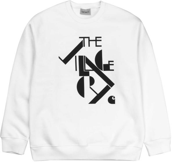 Carhartt - TVC Logo Sweat - White / Black - weiß - Streetwear - Sweaters - Crew Sweaters